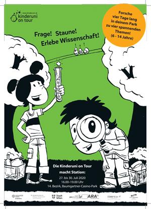 Die KinderUni on Tour im Baumgartner CasinoPark vom 27.-30.7.2020