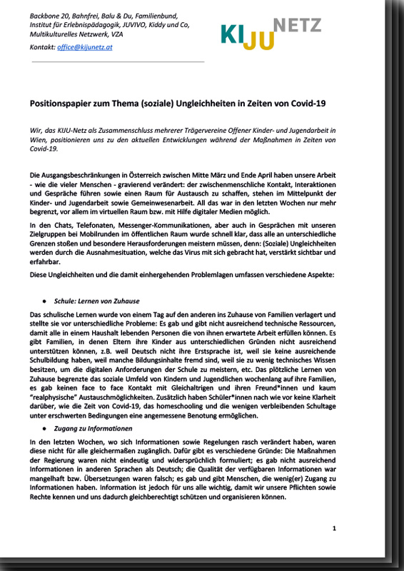 Das KiJuNetz PositionsPapier